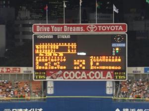 Yokohama Stadium Scoreboard