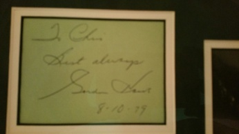 Autograph from 8/10/1979